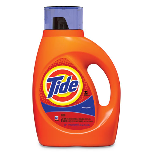 Liquid Tide Laundry Detergent, 50 oz Bottle, 6/Carton