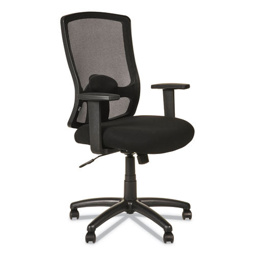 Alera Etros Series High-Back Swivel/Tilt Chair, Supports up to 275 lbs., Black Seat/Black Back, Black Base