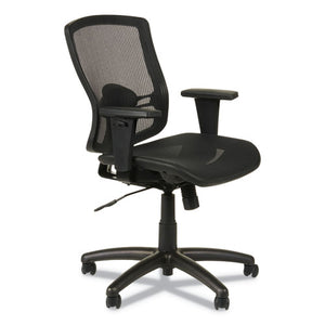 Alera Etros Series Suspension Mesh Mid-Back Synchro Tilt Chair, Supports up to 275 lbs., Black Seat/Black Back, Black Base