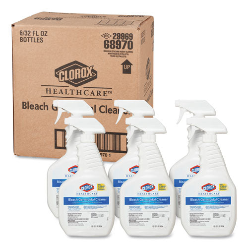 Bleach Germicidal Cleaner, 32oz Spray Bottle, 6/Carton