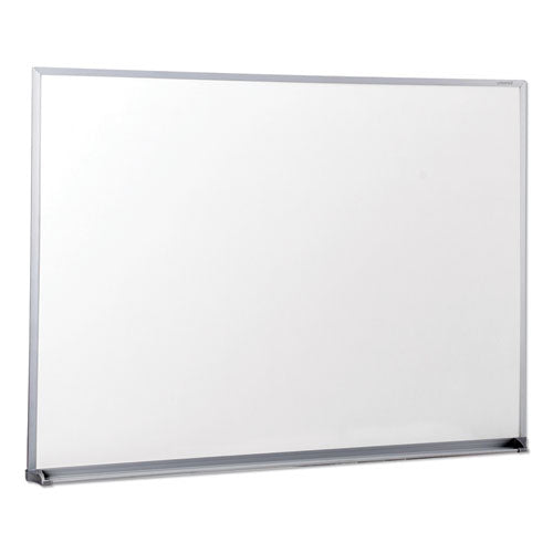 Dry Erase Board, Melamine, 48 x 36, Satin-Finished Aluminum Frame