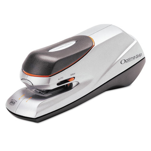 Optima Grip Electric Stapler, 20-Sheet Capacity, Black/Silver