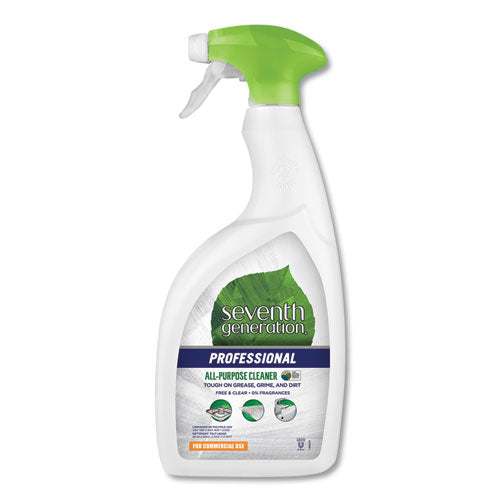 All-Purpose Cleaner, Free and Clear, 32 oz Spray Bottle, 8/Carton