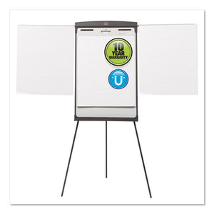 Magnetic Dry Erase Easel, 27 x 35, White Surface, Graphite Frame