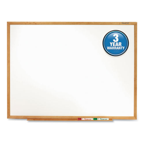 Classic Series Total Erase Dry Erase Board, 96 x 48, Oak Finish Frame