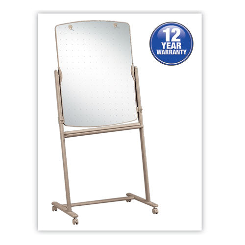 Total Erase Reversible Mobile Easel, 31 x 41, White Surface, Neutral Frame