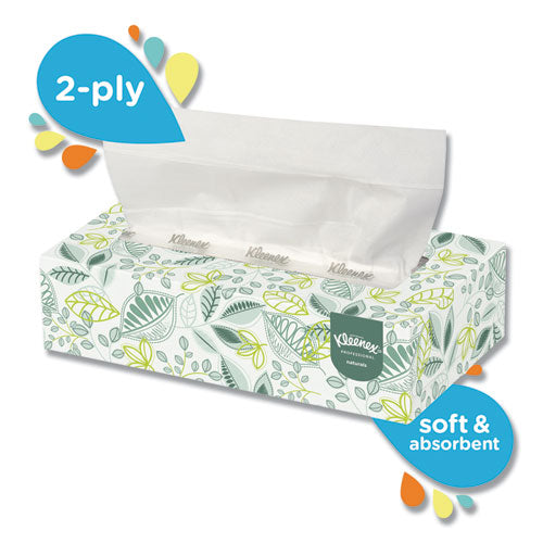 Naturals Facial Tissue, 2-Ply, White, 125 Sheets/Box