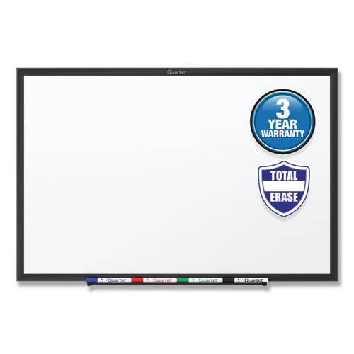 Classic Series Total Erase Dry Erase Board, 96 x 48, White Surface, Black Frame