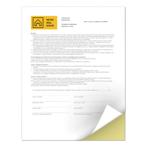 Revolution Digital Carbonless Paper, 2-Part, 8.5 x 11, Canary/White, 5, 000/Carton