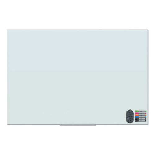 Floating Glass Dry Erase Board, 72 x 48, White