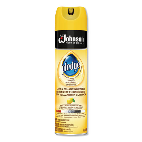 Furniture Polish, Lemon, 14.2 oz, Aerosol