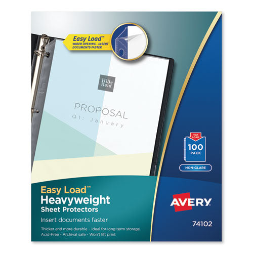 Top-Load Poly Sheet Protectors, Heavy Gauge, Letter, Nonglare, 100/Box
