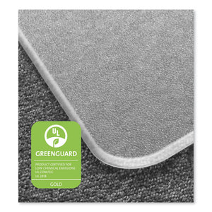 Cleartex MegaMat Heavy-Duty Polycarbonate Mat for Hard Floor/All Carpet, 46 x 53, Clear