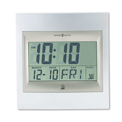 TechTime II Radio-Controlled LCD Wall or Table Alarm Clock, 8.75