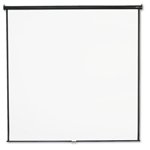 Wall or Ceiling Projection Screen, 96 x 96, White Matte, Black Matte Casing