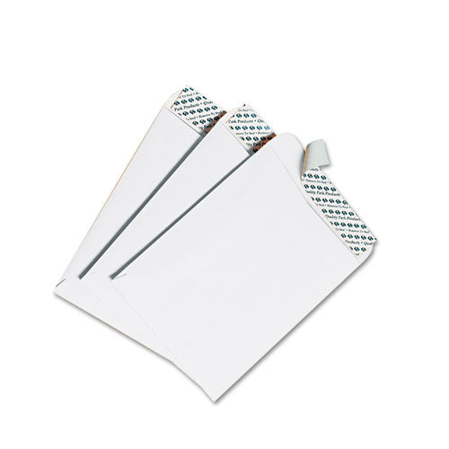 Redi-Strip Catalog Envelope, #15 1/2, Cheese Blade Flap, Redi-Strip Closure, 12 x 15.5, White, 100/Box