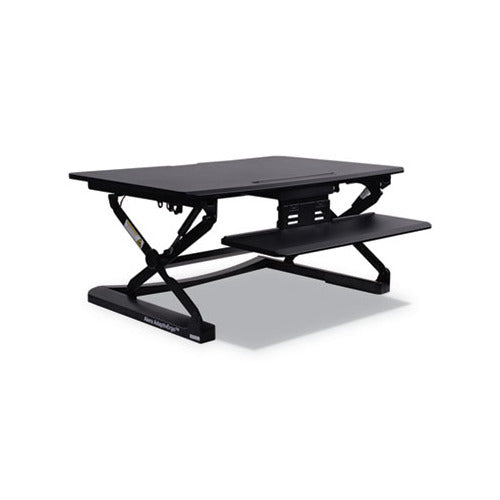 Alera AdaptivErgo Sit-Stand Lifting Workstation, 35.13w x 23.38d x 19.63h,Black