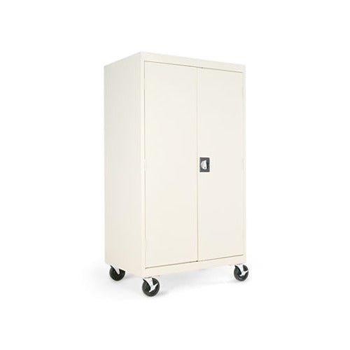 Alera Assembled Mobile Storage Cabinet, W/Adjustable Shelves 36w x 24d x 66h, Putty