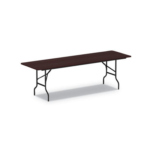 Alera Wood Folding Table, 95 7/8w x 29 7/8d x 29 1/8h, Mahogany