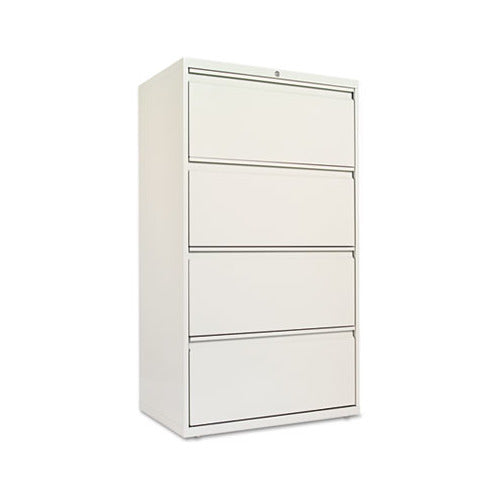 Alera Four-Drawer Lateral File Cabinet, 30w x 18d x 52.5h, Light Gray