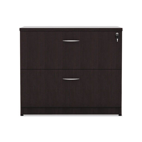 Alera Valencia Series Two Drawer Lateral File, 34w x 22.75d x 29.5h, Espresso