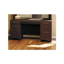 Load image into Gallery viewer, Bush Enterprise Collection 60W Double Pedestal Desk, 60w x 28.63d x 29.75h, Mocha Cherry Box 1 of 2