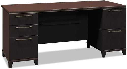 Andover Pedestal Executive Desk Finish: Mocha Cherry, Size: 30
