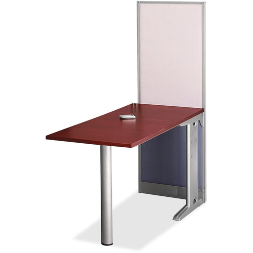 Bush® Office in an Hour U-Workstation (Box 3 of 3), Hansen Cherry/Silver