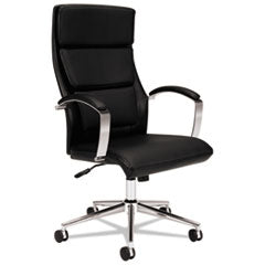 Basyx by HON VL105 Series Executive High-Back Chair, Black Leather