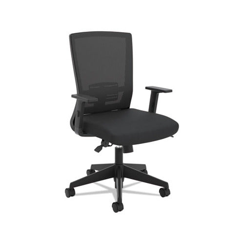 HON VL541 Mesh High-Back Task Chair, Supports up to 250 lbs., Black Seat/Black Back, Black Base
