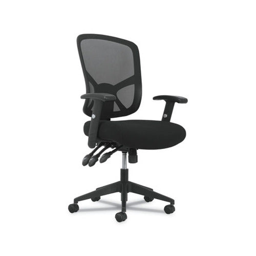 Sadie 1-Twenty-One High-Back Task Chair, Supports up to 250 lbs., Black Seat/Black Back, Black Base