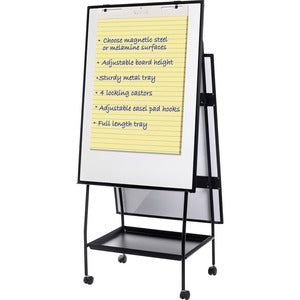MasterVision Melamine Double-sided Easel - 29.5