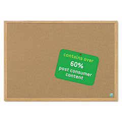 MasterVision™ Earth Cork Board, 36 x 48, Wood Frame
