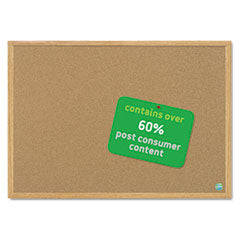 MasterVision™ Earth Cork Board, 48 x 72, Wood Frame