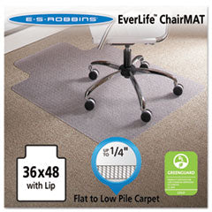 ES Robbins® 36 x 48 Lip Chair Mat, Task Series AnchorBar for Carpet up to 1/4