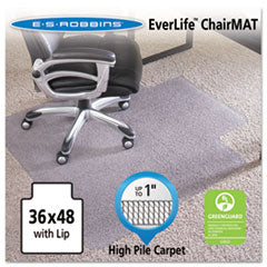 ES Robbins® 36x48 Lip Chair Mat, Performance Series AnchorBar for Carpet up to 1