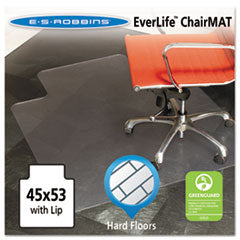 ES Robbins® 45x53 Lip Chair Mat, Multi-Task Series for Hard Floors, Heavier Use