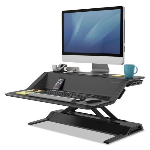 Fellowes Lotus Sit-Stand Workstation 32.75 x 24.25 x 5.5 to 22.5, Black