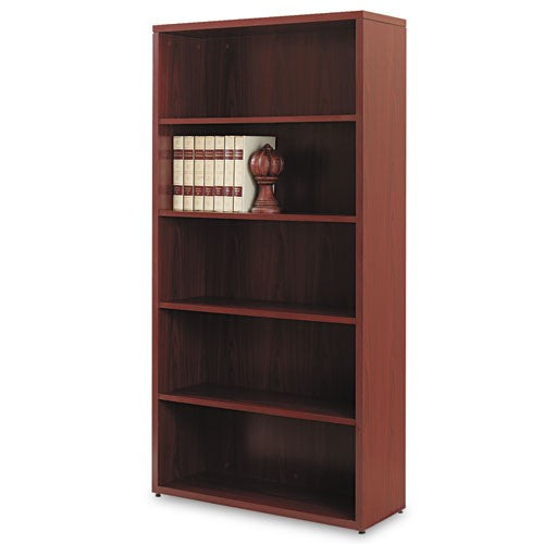 10500 Series Laminate Bookcase, Five-Shelf, 36w x 13-1/8d x 71h, Mahogany HON 105535NN