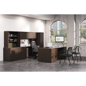 HON 10700 Series Double Ped Credenza - 4-Drawer, 4 x File Drawer(s) - 2 Door(s)