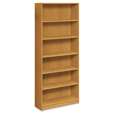 HON® 1890 Series Bookcase, Six Shelf, 36w x 11 1/2d x 84h, Harvest