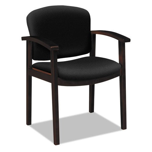 HON 2111 Invitation Reception Series Wood Guest Chair, Mahogany/Solid Black Fabric HON2111NCU10 HON 2111NCU10