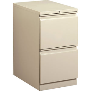"HON Brigade Mobile Pedestal, 22-7/8""D - 2-Drawer, 2 x Drawer(s) for File - Letter"