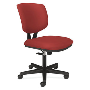 Volt Task Chair Crimson Fabr, Swivel-Tilt Armlss