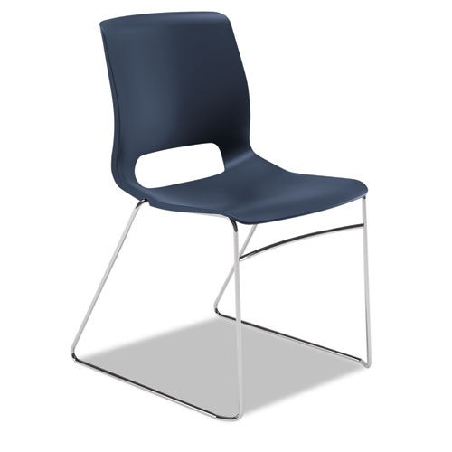 Motivate Seating High-Density Stacking Chair, Regatta/Chrome, 4/Carton HON MS101RE