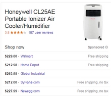 Load image into Gallery viewer, Honeywell 500 CFM 4 speed Portable Evaporative Cooler ~250sqft