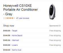 Load image into Gallery viewer, Honeywell 300 CFM 4 speed indoor portable evaporative cooler for 175sqft