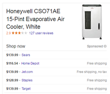 Load image into Gallery viewer, Honeywell 176CFM 3 speed portable evaporative cooler for 100 sqft