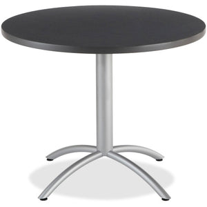 Iceberg CafeWorks 36 Round Cafe Table, Round Top - Graphite