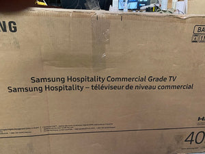 "Samsung	HG40NJ478MFXZA	40""1920x1080p HD NON-SMART HOSP TV LYNK DRM AND PRO:IDIOM BLAN 8/7"